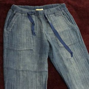 Cloth and stone faded cotton blue joggers